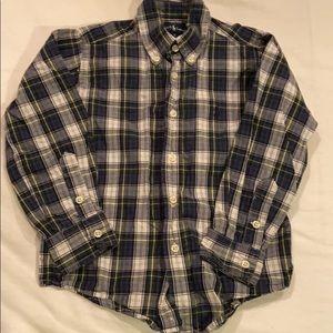Ralph Lauren Boys Plaid Button Up Size 4